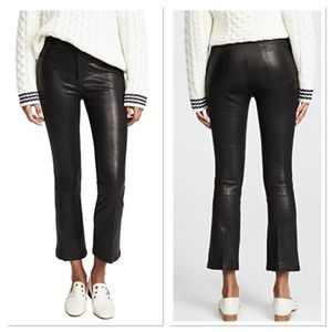 BNWOT JOES JEANS LEATHER CROPPED FLARED PANT